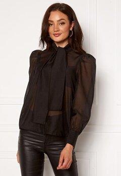 VERO MODA Briana L/S Shirt Black Bubbleroom.eu