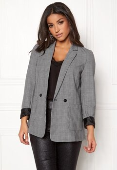 VERO MODA Check Button L/S Blazer Snow White Bubbleroom.eu