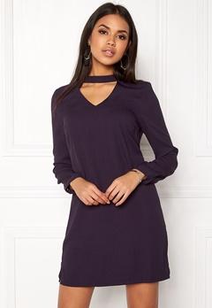 VERO MODA Chiara LS Choker Dress Nightshade Bubbleroom.eu