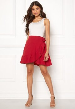 VERO MODA Cita Bobble Wrap Skirt Chinese Red Bubbleroom.eu