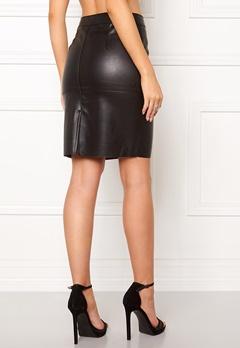 VERO MODA Clara Pu Skirt Black Bubbleroom.eu
