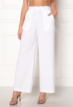 VERO MODA Coco HW Stella Wide Pants Bright White Bubbleroom.eu