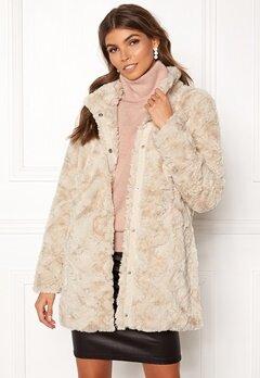 VERO MODA Curl Faux Fur Jacket Oatmeal Bubbleroom.eu