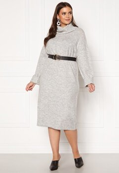 Vero Moda Curve Gaiva Cowl Neck Dress Light Grey Melange Bubbleroom.eu