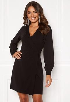 VERO MODA Elena v-neck Short Dress Black Bubbleroom.eu