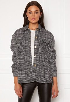 VERO MODA Elin Oversized Shirt Black Checks White Bubbleroom.eu