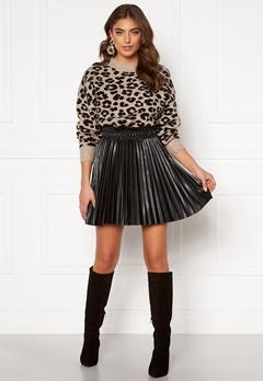 VERO MODA Elvira Coated Skirt Black Metallic Bubbleroom.eu