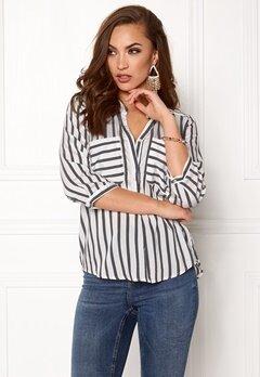 VERO MODA Erika Stripe 3/4 Shirt Snow White Stripes Bubbleroom.eu