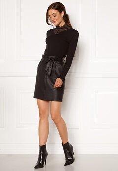 VERO MODA Eva Paperbag Short Coated Skirt Black Bubbleroom.eu