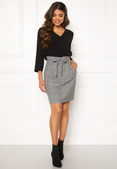 VERO MODA Eva Paperbag Short Skirt Grey Bubbleroom.eu