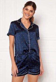 VERO MODA Fanni S/S Nightwear Set Navy Blazer Bubbleroom.eu
