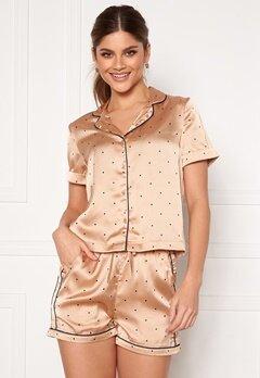 VERO MODA Fanni S/S Nightwear Set Nougat Bubbleroom.eu