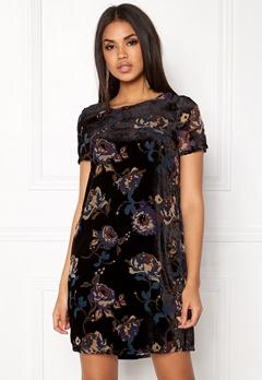 VERO MODA Fiona S/S Short Dress Black Comb 2 Bubbleroom.eu