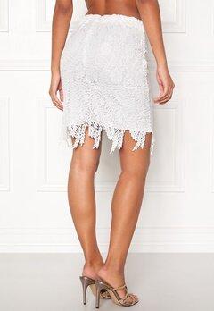 VERO MODA Flora hw Lace Skirt Snow White Bubbleroom.eu