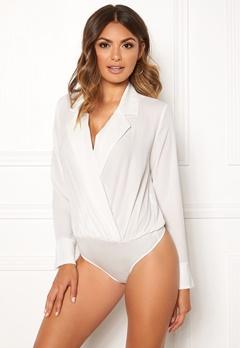 VERO MODA Freya L/S Shirt Body Snow White Bubbleroom.eu