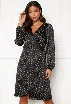 VERO MODA Gamma l/s Wrap Dress Black Bubbleroom.eu