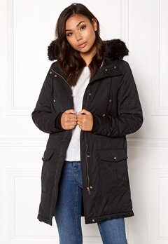 VERO MODA Gry New 3/4 Parka Black Beauty Bubbleroom.eu