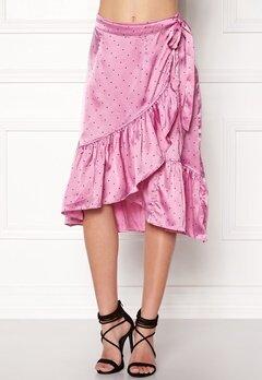 VERO MODA Henna Satin Wrap Skirt Opera Mauve Bubbleroom.eu
