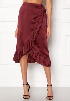 VERO MODA Henna Shine Wrap Skirt Cabernet Bubbleroom.eu