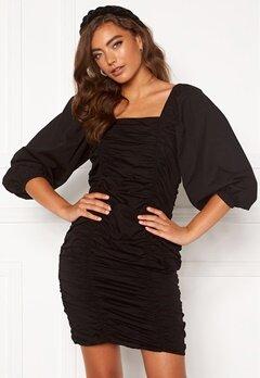 VERO MODA Henny 3/4 Rouching Dress Black Bubbleroom.eu