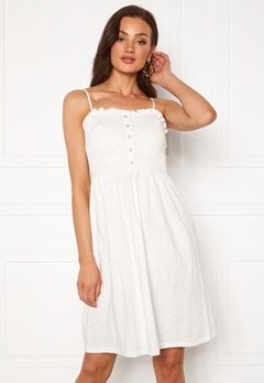VERO MODA Hey S/L Abk Dress Snow White Bubbleroom.eu