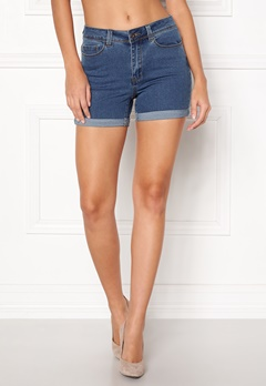 VERO MODA Hot Seven Fold Shorts Medium Blue Denim Bubbleroom.eu