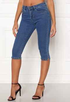 VERO MODA Hot Seven Slit Knickers Medium Blue Denim Bubbleroom.eu