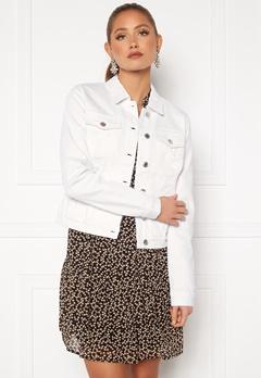 VERO MODA Hot Soya LS Denim Jacket Bright White Bubbleroom.eu
