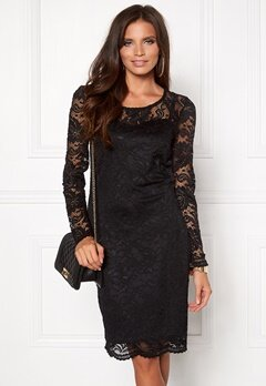 VERO MODA Joy Janet LS Dress Black Bubbleroom.eu
