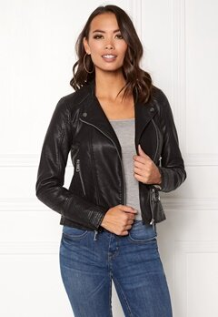 VERO MODA Kerri Short PU Jacket Black Bubbleroom.eu