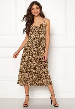 VERO MODA Lea S/L Midi Dress Tigers Eye Bubbleroom.eu