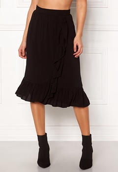VERO MODA Leo N/W Wrap Skirt Black Bubbleroom.eu
