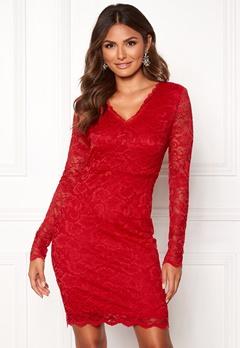 VERO MODA Lucia LS Short Dress Boo Chinese Red Bubbleroom.eu