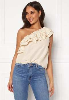 VERO MODA Lucinda One Shoulder Top Birch Bubbleroom.eu