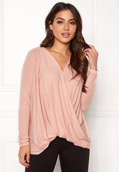 VERO MODA Mandy LS Wrap Top Boo Misty Rose Bubbleroom.eu