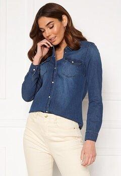 VERO MODA Maria LS Denim Slim Shirt Medium Blue Denim Bubbleroom.eu