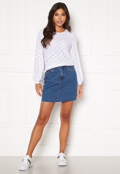 VERO MODA Mikky Raw Denim Skirt Medium Blue Denim Bubbleroom.eu