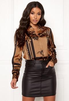 VERO MODA Mimi ls Shirt Tobacco Brown Bubbleroom.eu