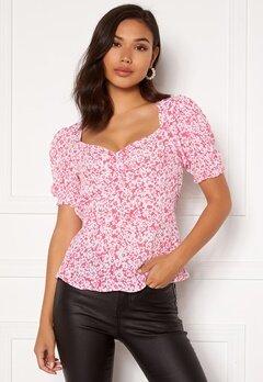 VERO MODA Nille S/S Top Hot Pink Bubbleroom.eu