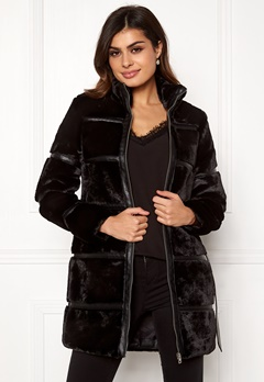 VERO MODA Ninja 3/4 Faux Fur Jacket Black Bubbleroom.eu