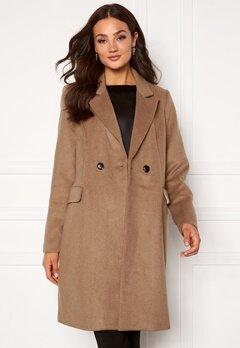 VERO MODA Noramille 3/4 Wool Jacket Sepia Tint Bubbleroom.eu