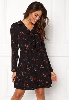 VERO MODA Parisan Short Wrap Dress Black Bubbleroom.eu