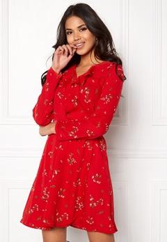 VERO MODA Parisan Short Wrap Dress Lychee Bubbleroom.eu