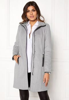 VERO MODA Prato Rich Wool Jacket Light Grey Melange Bubbleroom.eu