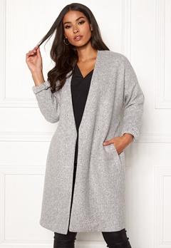 VERO MODA Rine Brushed 3/4 Jacket Light Grey Melange Bubbleroom.eu
