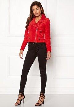 VERO MODA Royce Short Suede Jacket Flame Scarlet Bubbleroom.eu