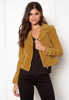 VERO MODA Royce Short Suede Jacket Golden Glow Bubbleroom.eu