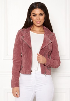VERO MODA Royce Short Suede Jacket Old Rose Bubbleroom.eu