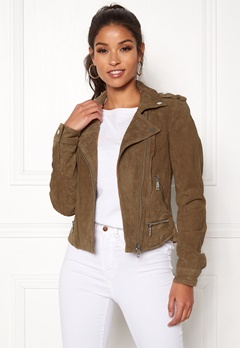 VERO MODA Royce Short Suede Jacket Tobacco Brown Bubbleroom.eu
