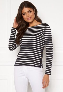 VERO MODA Sailor ls Stripe Blouse Night Sky Bubbleroom.eu